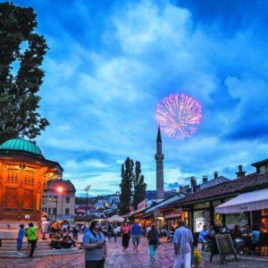 Ramazanska atmosferan na Bascarsiji, Begova dzamija, Sebilj, top iftari